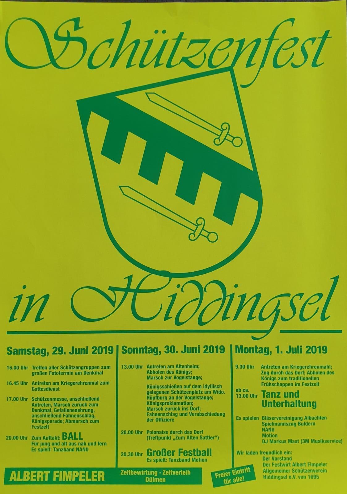 Schützenfest in Hiddingsel
