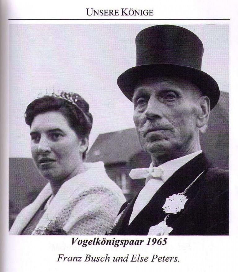 Vogelkönigspaar 1965