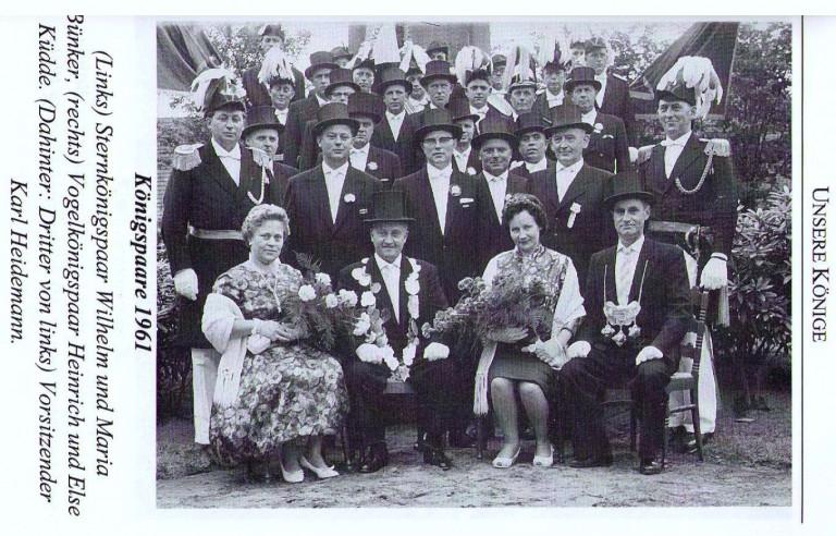Königspaare 1961